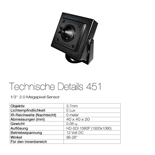 Technische Details HD451