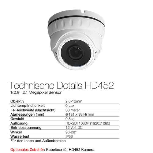 Technische Details HD452