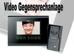 Video Gegensprechanlage Schwarz