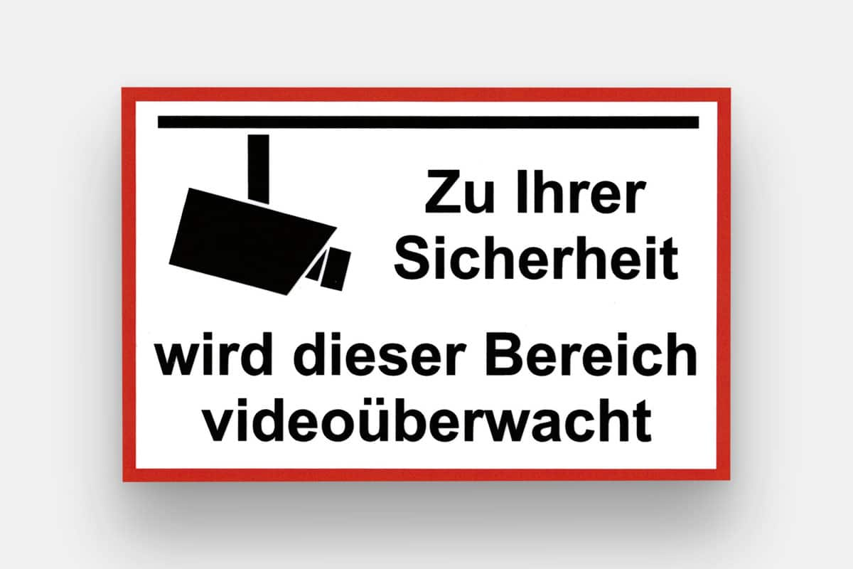 Aufkleber Videoüberwachung